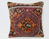 "embroidered pillow 18"" sofa throw pillow living room decoration kilim fabric easter pillow floor pillow case country pillow ethnic rug 24793"