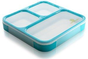 Amazon.com: Bento Box by Lifemark Labs - Stylish Leakproof Microwavable Lunch Box with Compartments - For Kids & Adults - 100% Food Safe Design - Easy Portion Control - This Clever Container is Dishwasher Friendly - Healthy Eating Starts Now!: Kitchen & Dining