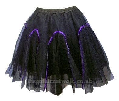A Full And Frothy Black Gothic Tutu Skirt By Dark Star Comprising Of Three Layers