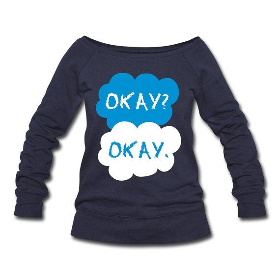 The Fault in our Stars Sweater - OKAY OKAY Sweatshirts - TFIOS Book and Movie Fans Cool Graphic Pullover Jumper. Awesome tfios Ok Ok Sweater on Etsy, $29.99