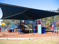 Popular playground at Buffalo Creek, Hunters Hill with bicycle circuit for kids, BBQ, picnic shelter, playing field and nice bushwalks.
