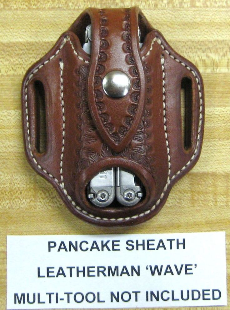 Custom Pancake Sheath for Leatherman WAVE Multi Tool | Collectibles, Knives, Swords & Blades, Collectible Folding Knives | eBay!