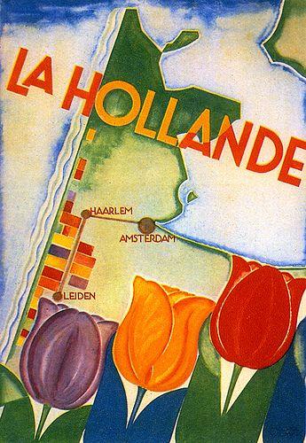 Travel poster designed by Machiel Wilmink 1929.