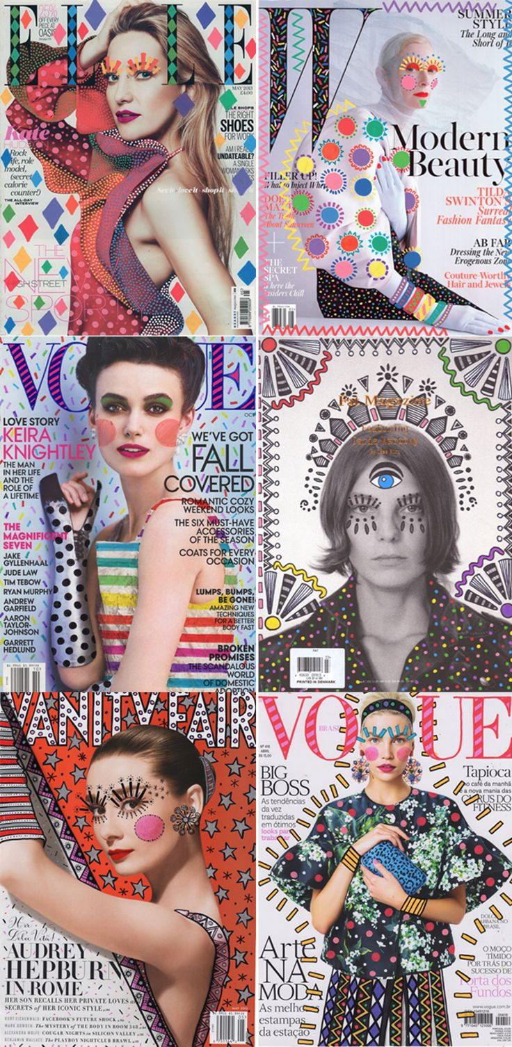 i love the pop arty theme on all of these front covers for my contents page and front cover