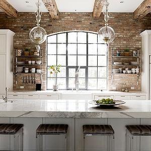 White Kitchen Exposed Brick best 10+ kitchen brick ideas on pinterest | exposed brick kitchen