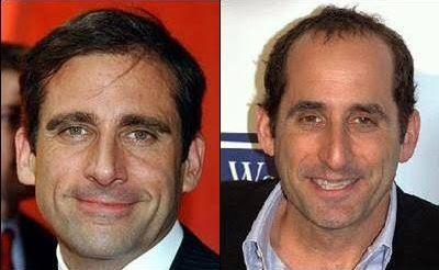 Steve Carell and Peter Jacobson