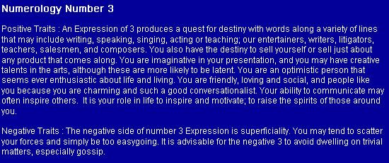 Numerology: Number 3 (Positive + Negative Traits) | #numerology