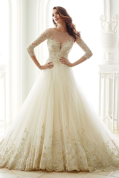 Wedding gown by Sophia Tolli for Mon Cheri (Style Y21666).