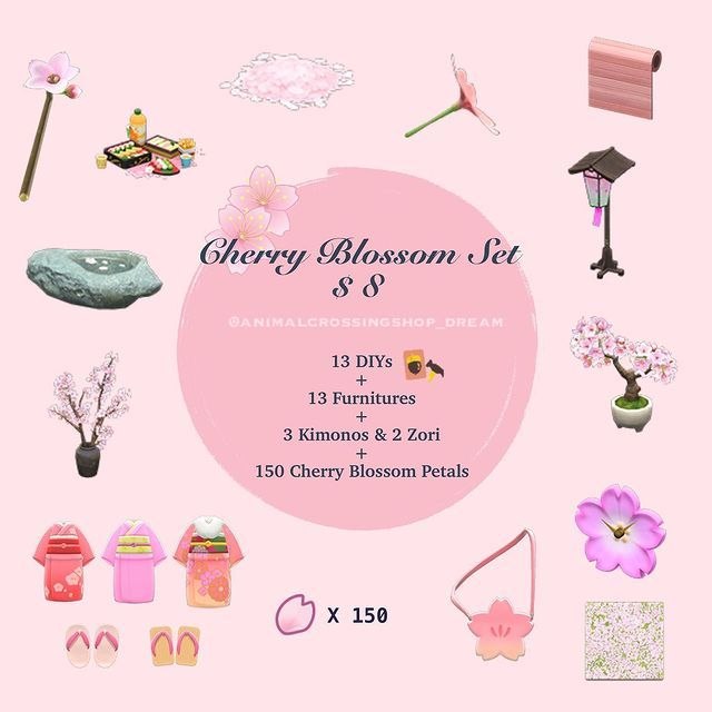 Animal Crossing Buffet Expert On Instagram Cherry Blossom Set 8 Many Of You Has Asked About Cherry Cherry Blossom Petals Cherry Blossom Animal Crossing