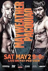Floyd Mayweather, Jr. vs. Manny Pacquiao, billed as Battle for Greatness or The Fight of the Century, was a professional boxing match between the eight-division world champion Manny Pacquiao and undefeated, five-division world champion Floyd Mayweather, Jr. The fight took place on May 2, 2015 at the MGM Grand Garden Arena in Las Vegas, Nevada.