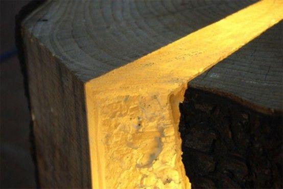 Umweltfreundliche Designer Lampen Aus Holz Resten #designer #lampen #resten  #umweltfreundliche