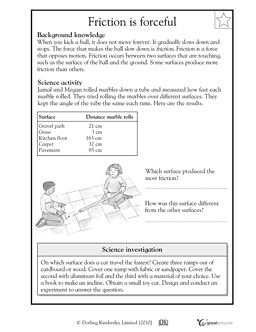 Friction Is Forceful Worksheets Activities Greatschools For