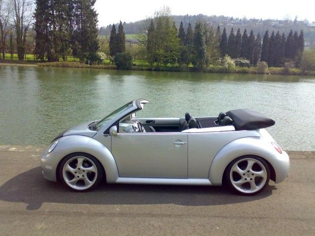 New Beetle conversivel rebaixado + rodas Porsche - World Version Custom