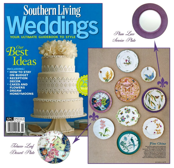 southern living weddings mottahedeh 39 s tobacco leaf dessert plate