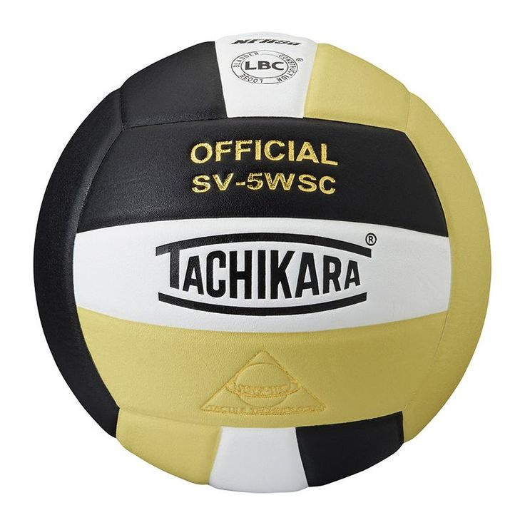 Tachikara Official SV5WSC Microfiber Composite Leather Volleyball, Black