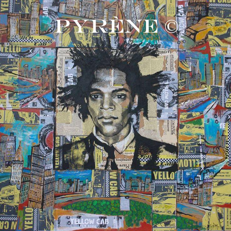 """""""Basquiat"""" technique mixte sur toile 100x100 cm http://www.artmajeur.com/helene-py/     http://wizzz.telerama.fr/azurwizzz     https://www.facebook.com/pages/H%C3%A9l%C3%A8ne-Py/483215725063037   &     http://helene-py-pyrene-peinture-ecriture.over-blog.com/"""
