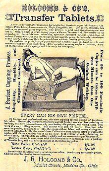 Hectograph - Wikipedia, the free encyclopedia