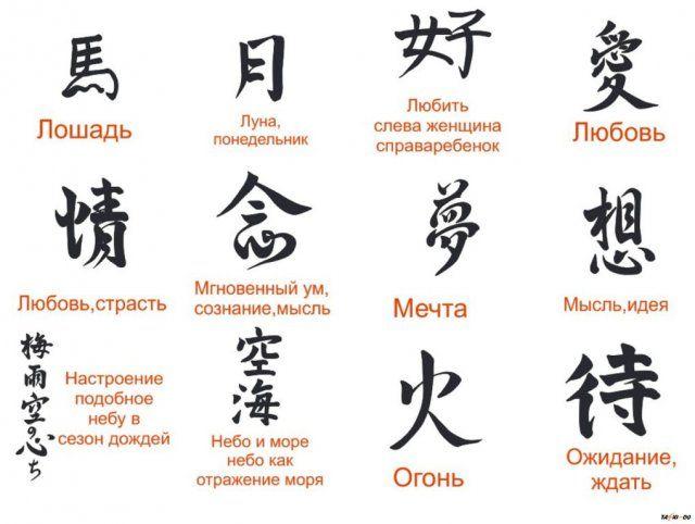 иероглифы японские и их значение на русском: 7 тыс изображений найдено в Яндекс.Картинках