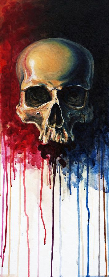 Skull Painting by David Kraig