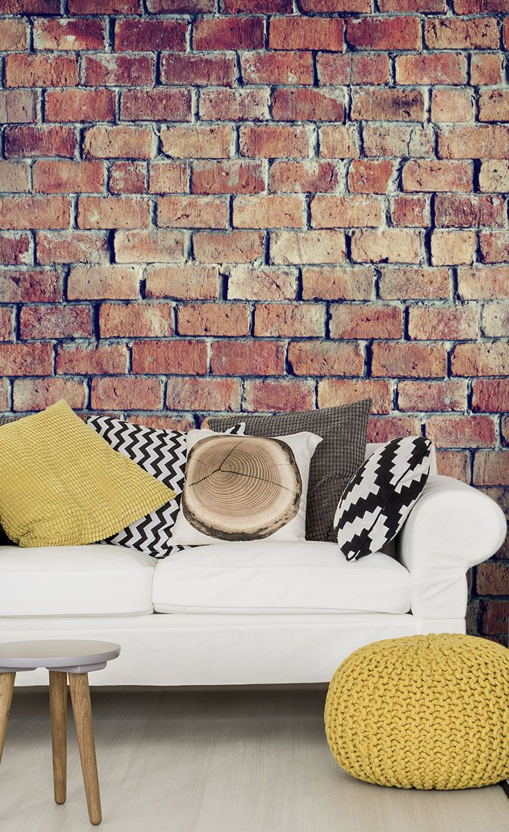 beautiful textured brick effect wall wall mural