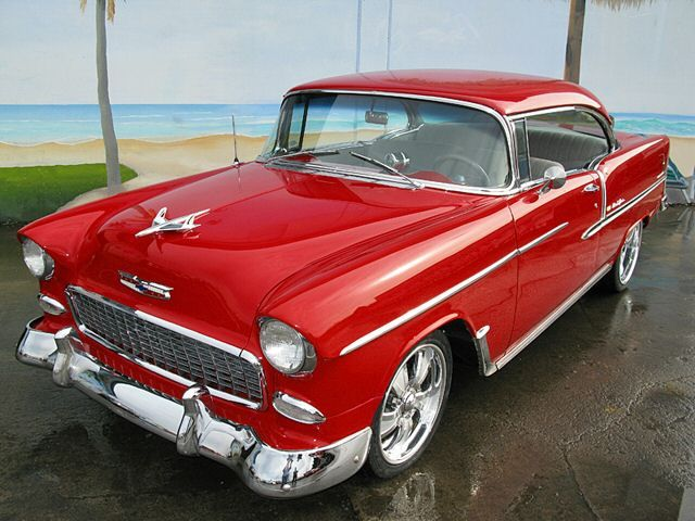 Red 1955 Chevy