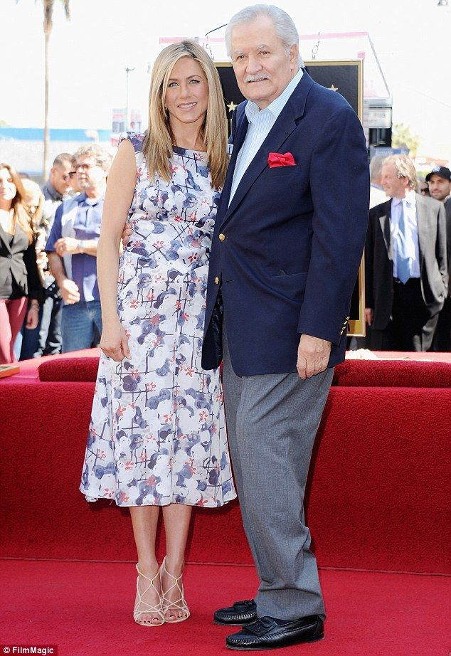 Still close: The Horrible Bosses star has a close relationship with her father John Anisto...