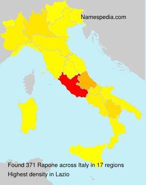 Cognome Rapone in Italia
