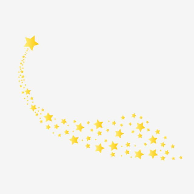 Golden Star Meteor Tail Element Yellow Golden Small Stars Png And Vector With Transparent Background For Free Download Golden Star Cartoon Clip Art Prints For Sale