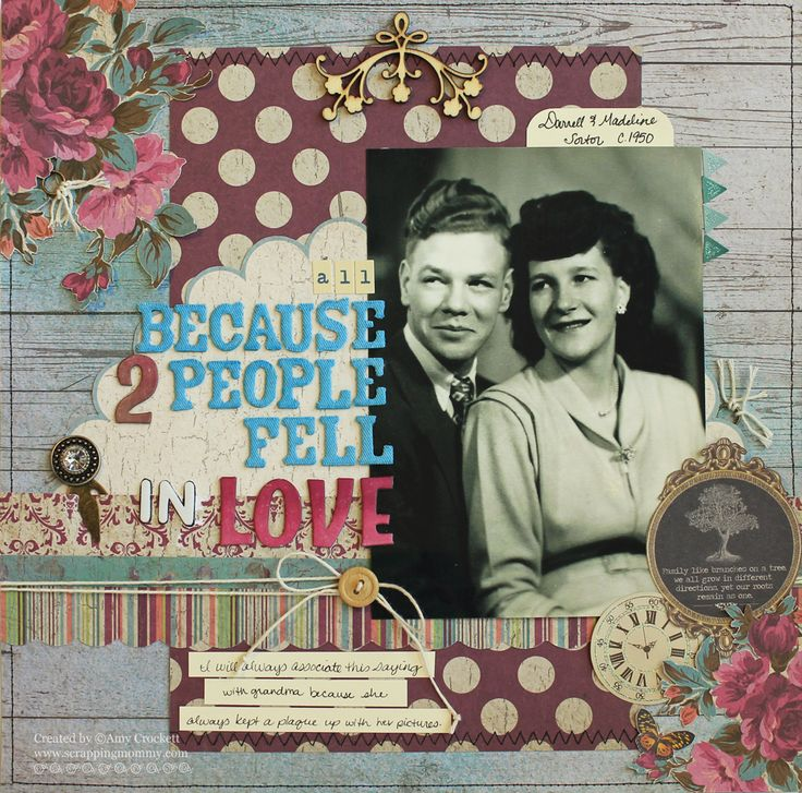 Scrapping Mommy : All Because 2 People Fell In Love Layout
