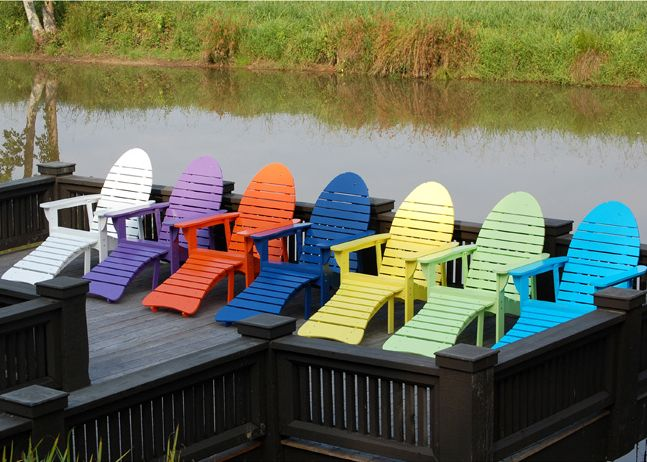 185 Best Adirondack Chairs And Art Fences Images On