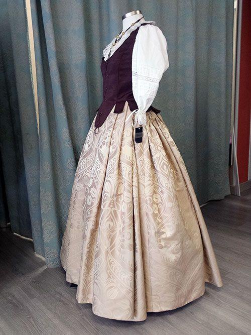 Quevistes Taller de costura: traje baturro de mujer mod.040