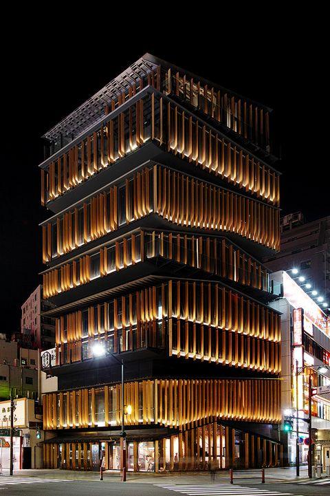 Japan Layers  akasaka culture center, tokyo/kengo kuma
