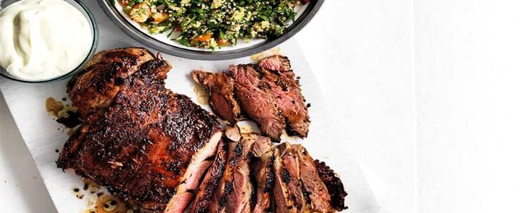 RECIPE: Barbecued Lamb with Quinoa Tabouli. Brought to you by MiNDFOOD.
