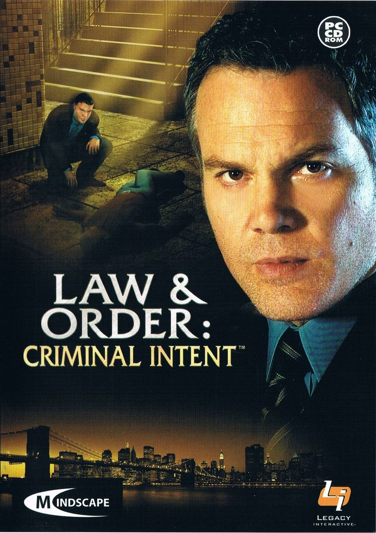 Law and order criminal intent antithesis