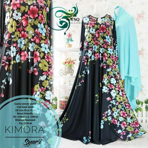 Jual Gamis Cantik Kimora Syar'i Jersey Keren - https://www.butikjingga.com/gamis-cantik-kimora-syari-jersey