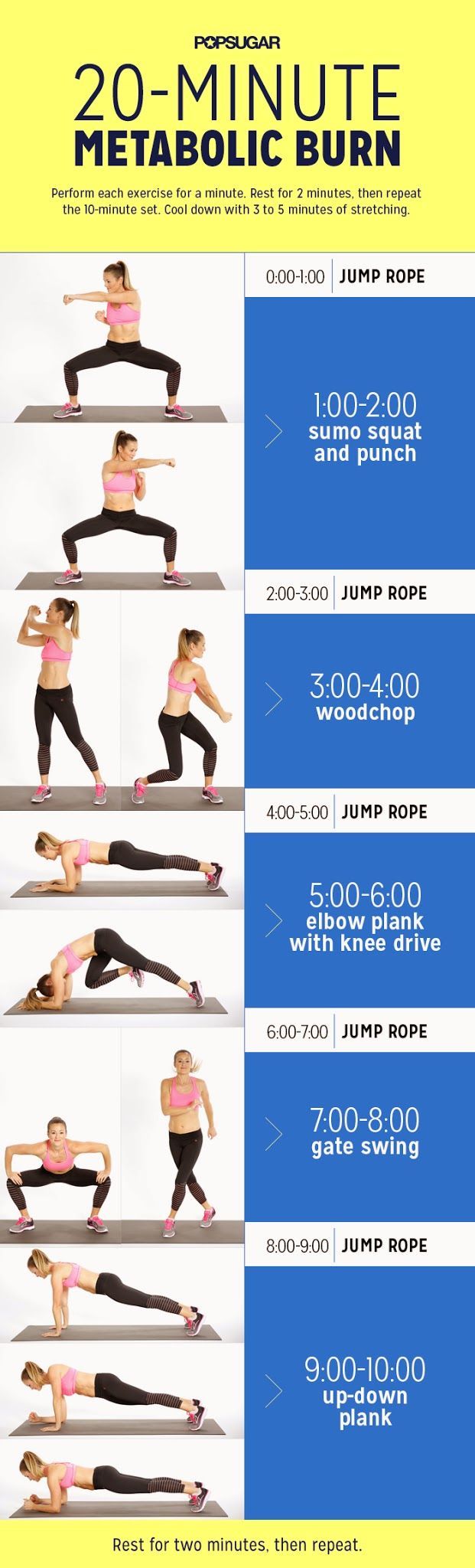 20-minute metabolic burn workout.