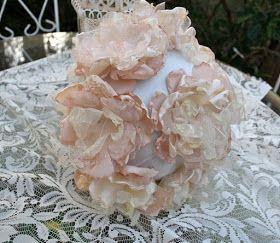 The Polka Dot Closet: Fabric Flower Bridal Bouquet