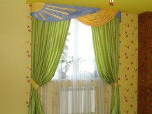 зеленые шторы для веселой детской