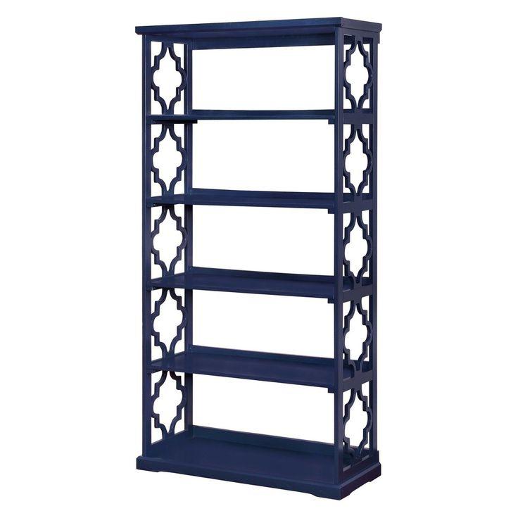 Iohomes Estella 5 Shelf Bookcase Blue - Homes: Inside + Out, Navy Blue