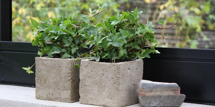 STØB DINE EGNE POTTER - Make your own cement pots