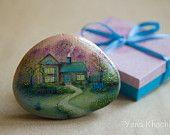 Fairy House - Oil Painting on a Stone