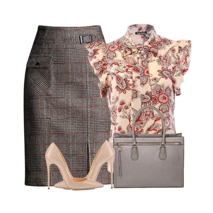 Plaid Wool Blend Skirt 9