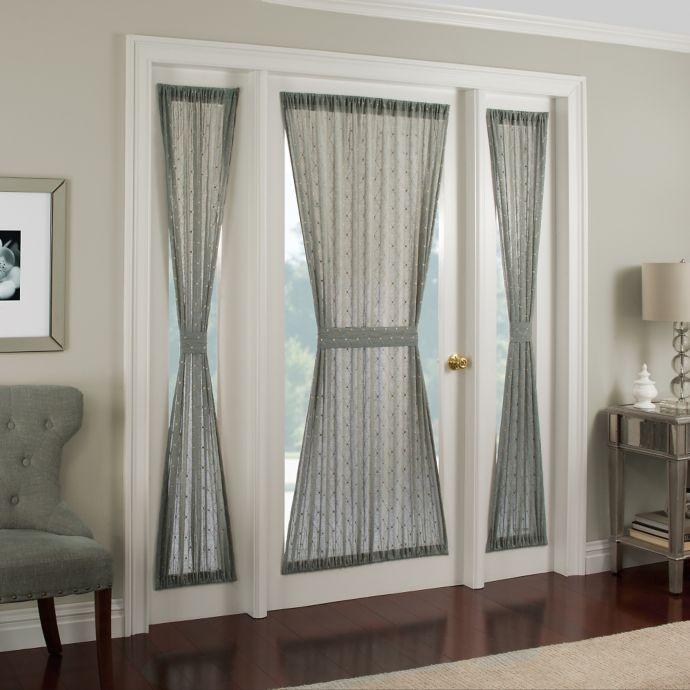 Crystal Brook Side Light Door Panel Window Curtain Designs Front Door Curtains Front Doors With Windows