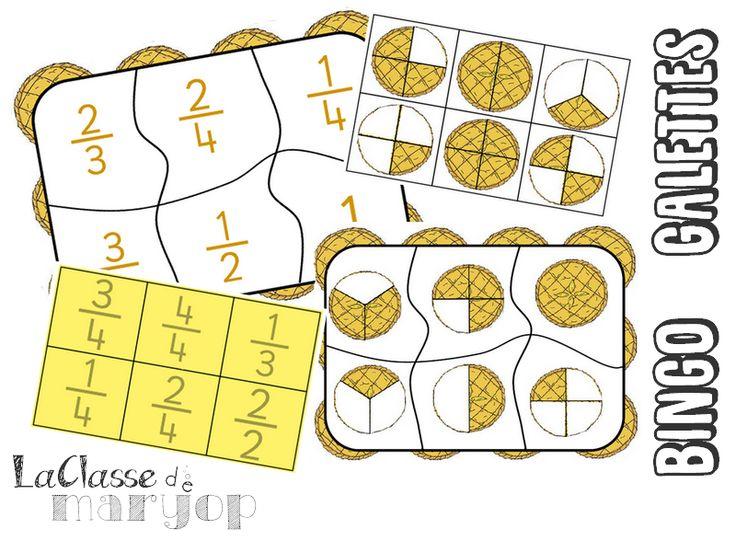 Bingo Galettes - Jeu sur les fractions - La Classe de Marybop
