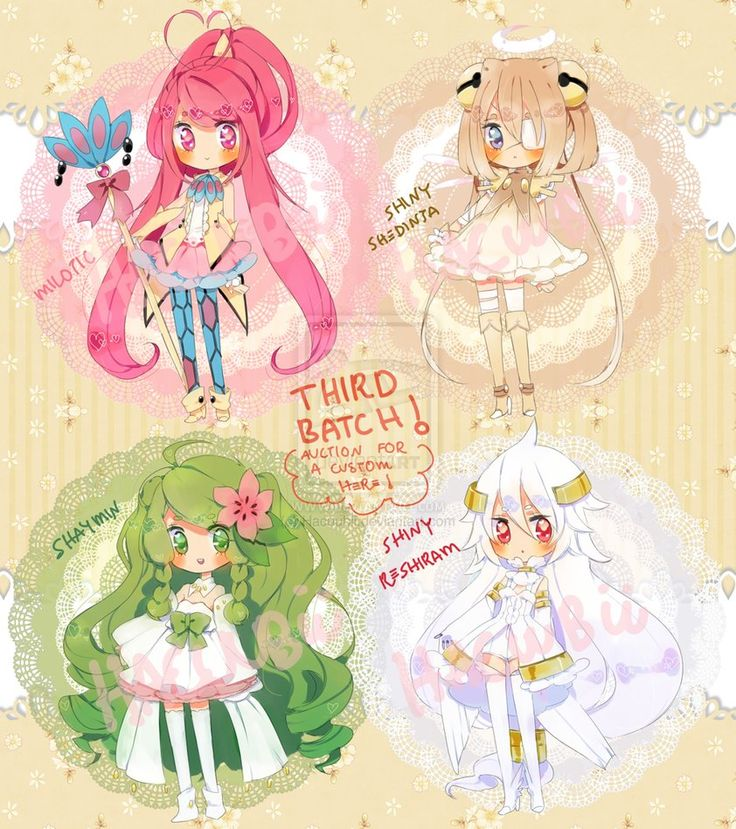 Pokemon Puella 3rd Batch{paypal}{closed} by Hacuubii on