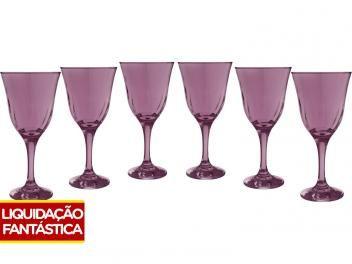 Jogo de Taças para Água Vidro 6 peças - Nadir Lírio  de R$ 58,00 por R$ 29,90 Oferta disponível só neste site.Clique na imagem abaixo.
