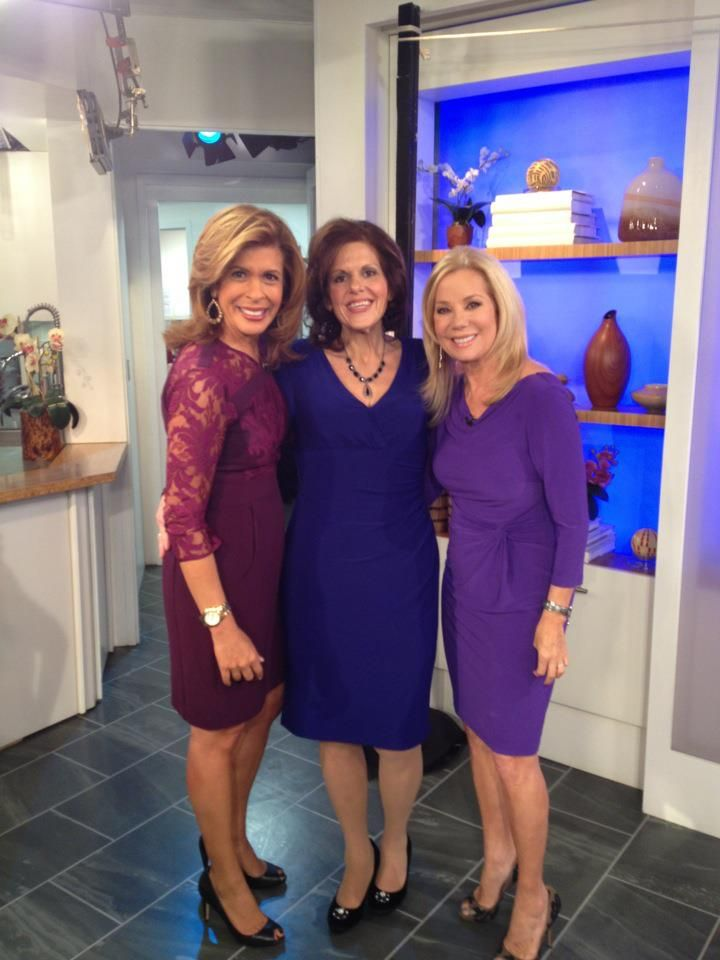Theresa Borawski after being inducted as a member of Joy Bauer's Fit Club on the NBC Today Show for losing 276 pounds without surgery, diet pills or Fad diets. With Kathie Lee and Hoda on March 4, 2013
