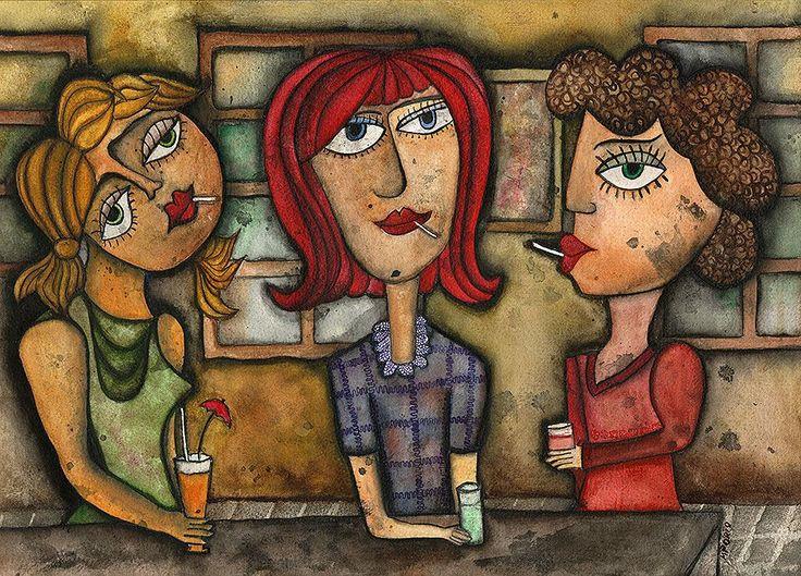 Mujeres que fuman y beben - Autor: Marta Porto