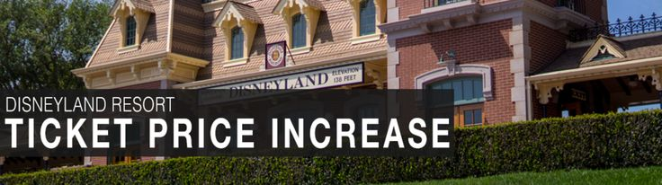 In what has become an annual spring event, the Disneyland Resort is raising  ticket prices for 2014. In 2013 we were given a one-day notice, and again  this year the admission increase will be taking effect quickly.