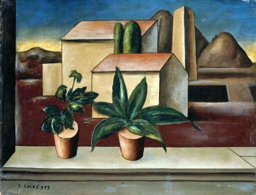 Carra, Carlo (1881-1966) - 1923 Pots on the Windowsill (Christies Milan, 2004)
